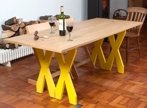 Double Cross Dining Console Table