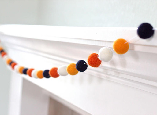 Halloween Felt Ball Garland