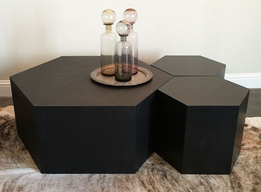 Hexagon Wood Table FURNISHINGS Better Living Through Design