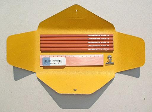 Homework Leather Pencil Case