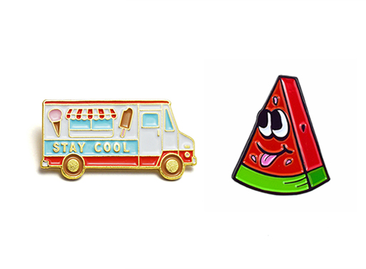 Stay Cool Ice Cream Truck and Watermelon Buddy Pins