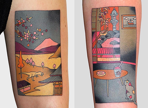 Japanese Woodblock Prints Reimagined as Contemporary Tattoos