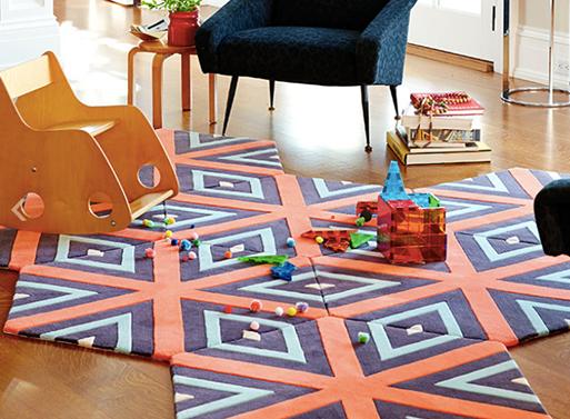 Kinder GROUND Honeycomb Carpet - Swizzle