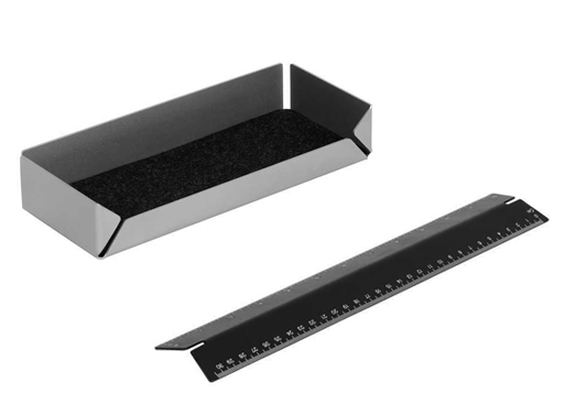 Postino pen tray and ruler