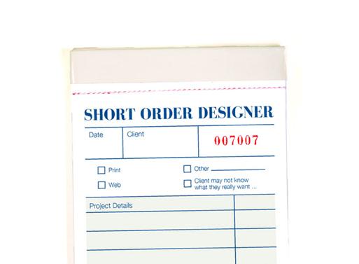 Short Order Designer Notepads