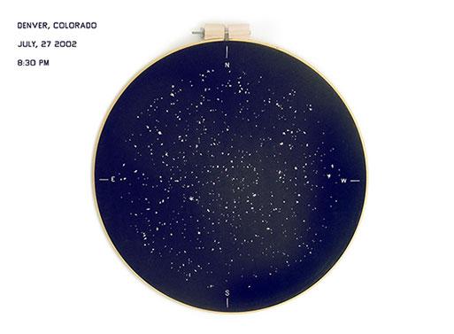 Stitched Star Chart