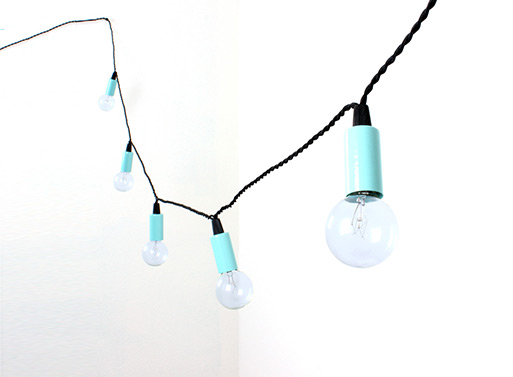 String Lights aqua blue