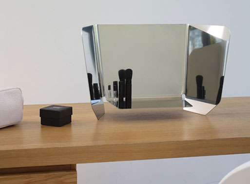 Table Mirror Dorian Silver