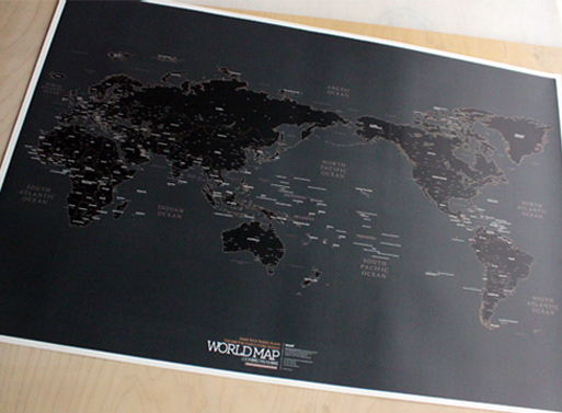 World Map black version