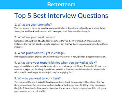 Customer Service Associate Interview Questions