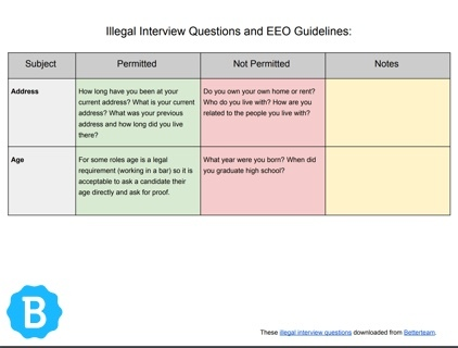 Illegal Interview Questions - What Not to Ask Candidates in 2018