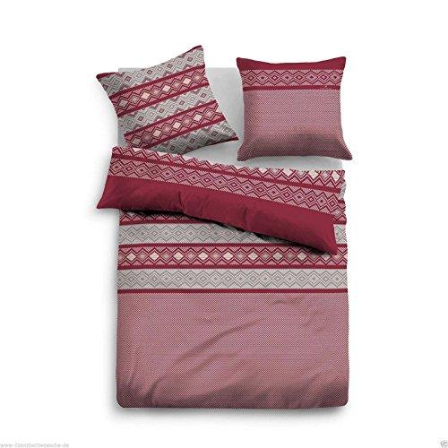 Traumhafte Bettw228;sche Aus Flanell Rot 155x220 Von Tom