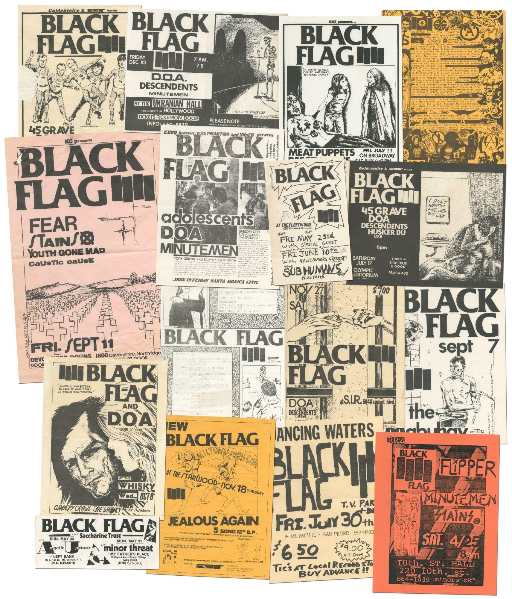 16 Black Flag Flyers Raymond PETTIBON, Black Flag
