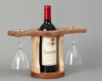 Wine Bottle & Glass Holder | Beveledge