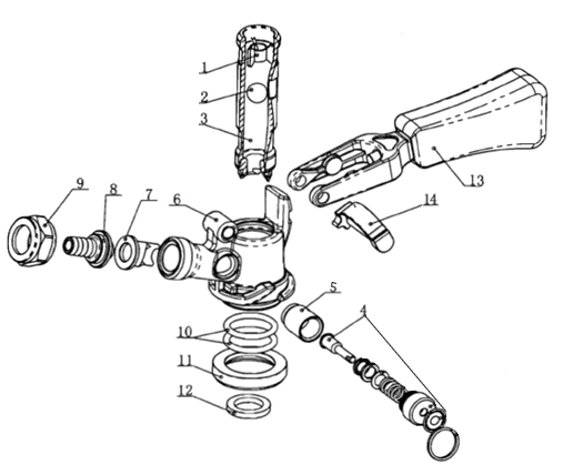 keg valve system schematic diagram of u