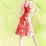 Red & White Striped Dress