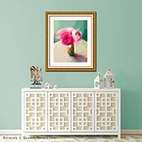 Tiny Pink Ranunculus Floral Art