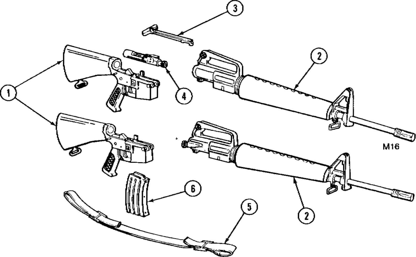 labeled shotgun diagram stock image image 33392141