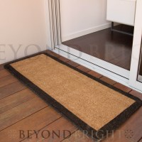 Long HONEY Coir Double Door Mat 45 x 120cm