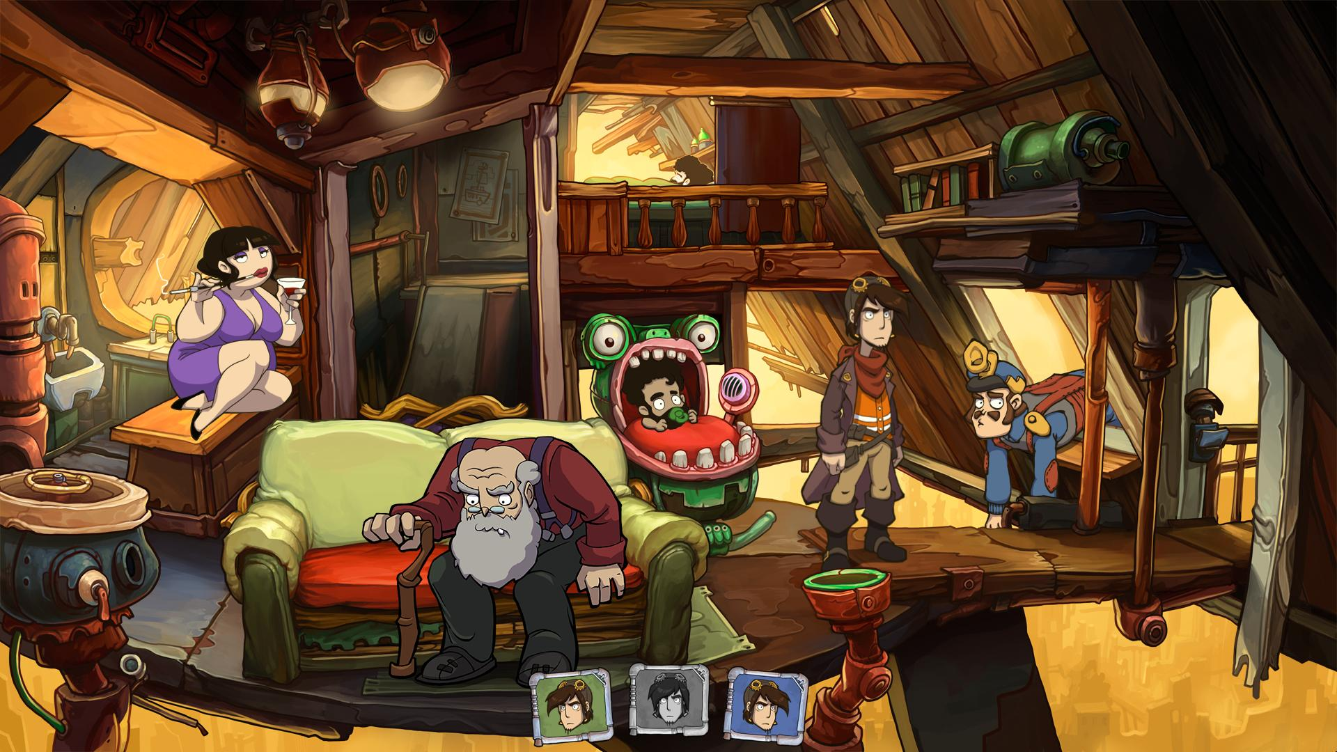 Gravity Falls Wallpaper Pc Deponia The Complete Journey Pc Im Test Beyond Pixels