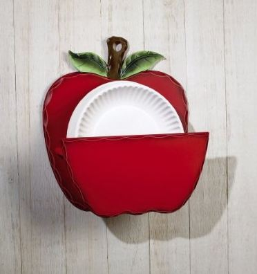 Apple Themed Paper Plate Dispenser Beyond The Kitchen Sink