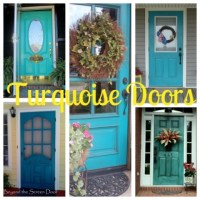 A Collection of Turquoise Doors - Beyond the Screen Door