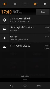 Car mode notifications