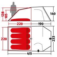 """Wechsel Intrepid 4 """"""""Travel Line"""""""" - 4-Person Tent 