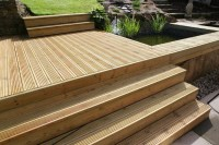 125mm x 38mm Swedish redwood decking  BG Fencing