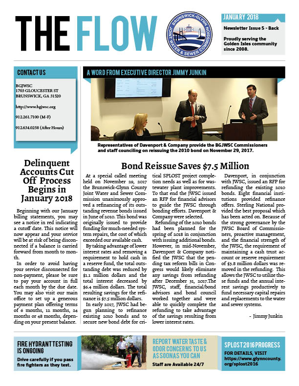 The Flow Monthly Newsletter Brunswick-Glynn County Joint Water