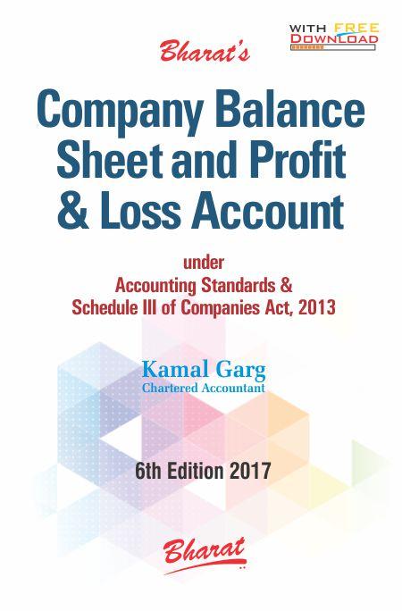 Buy COMPANY BALANCE SHEET AND PROFIT  LOSS ACCOUNT under Accounting