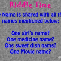 Whatsapp Riddle: One Name Shared by a Sweet, a Medicine, A Movie and A Girl's Name