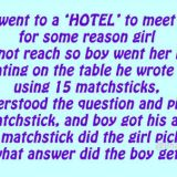 Whatsapp Riddle: Boy Writes Hotel With Matchsticks and Girl Replies