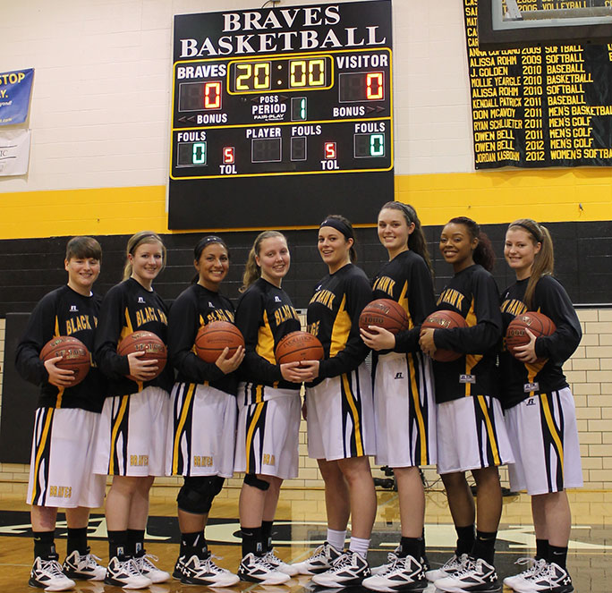 BHC Braves Womens Basketball team