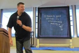 Motivational speaker Sam Glenn was quite entertaining!
