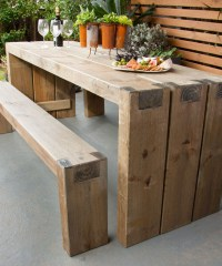How to create an outdoor table and benches   Better Homes ...
