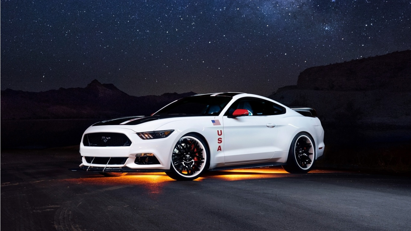 Mustang Car Wallpaper Download Ford Mustang Gt Apollo Edition 2015 Wallpapers 1366x768
