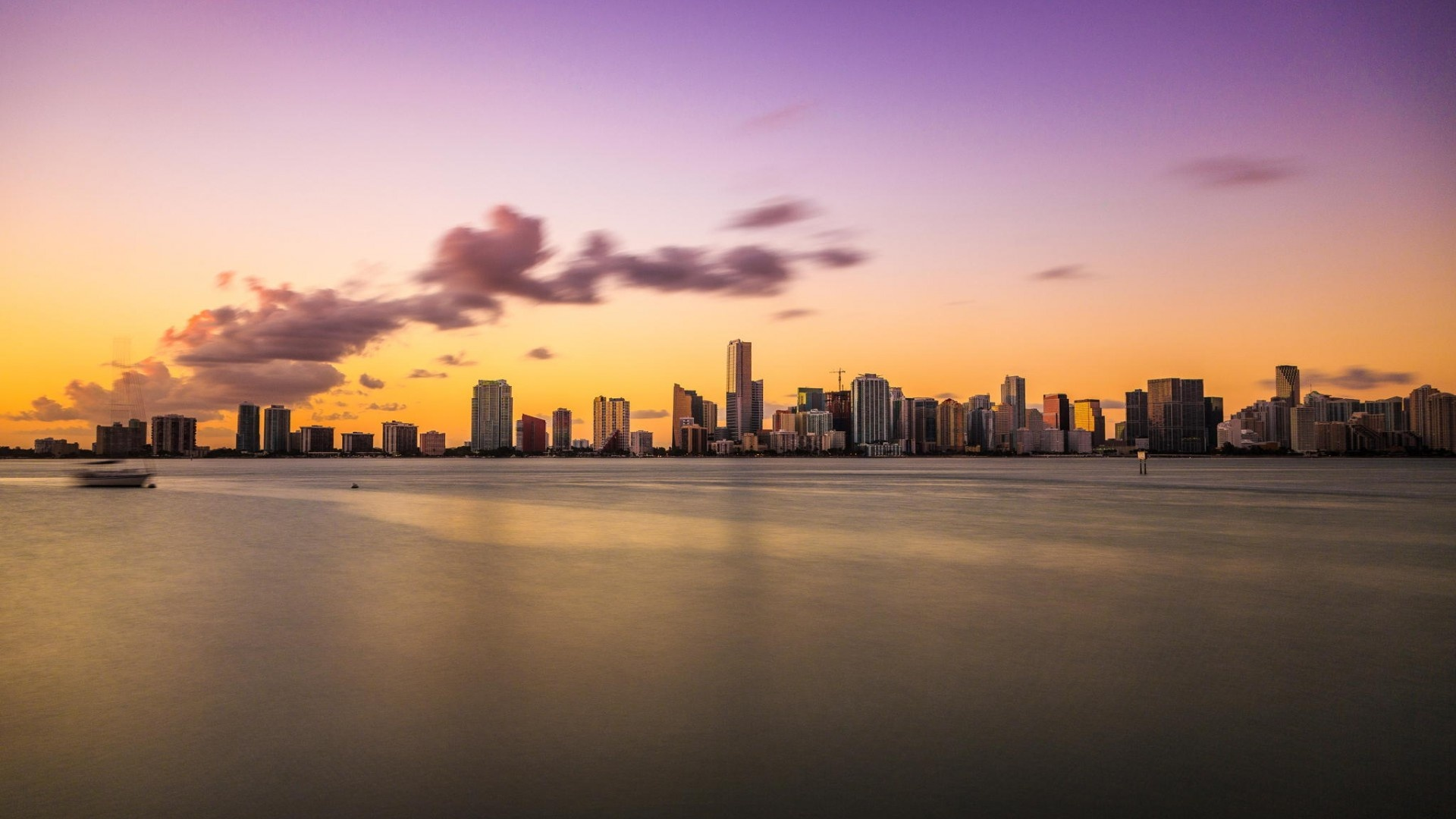 Os X Wallpapers Hd Miami Evening Sunset Ocean Wallpapers 1920x1080 365696