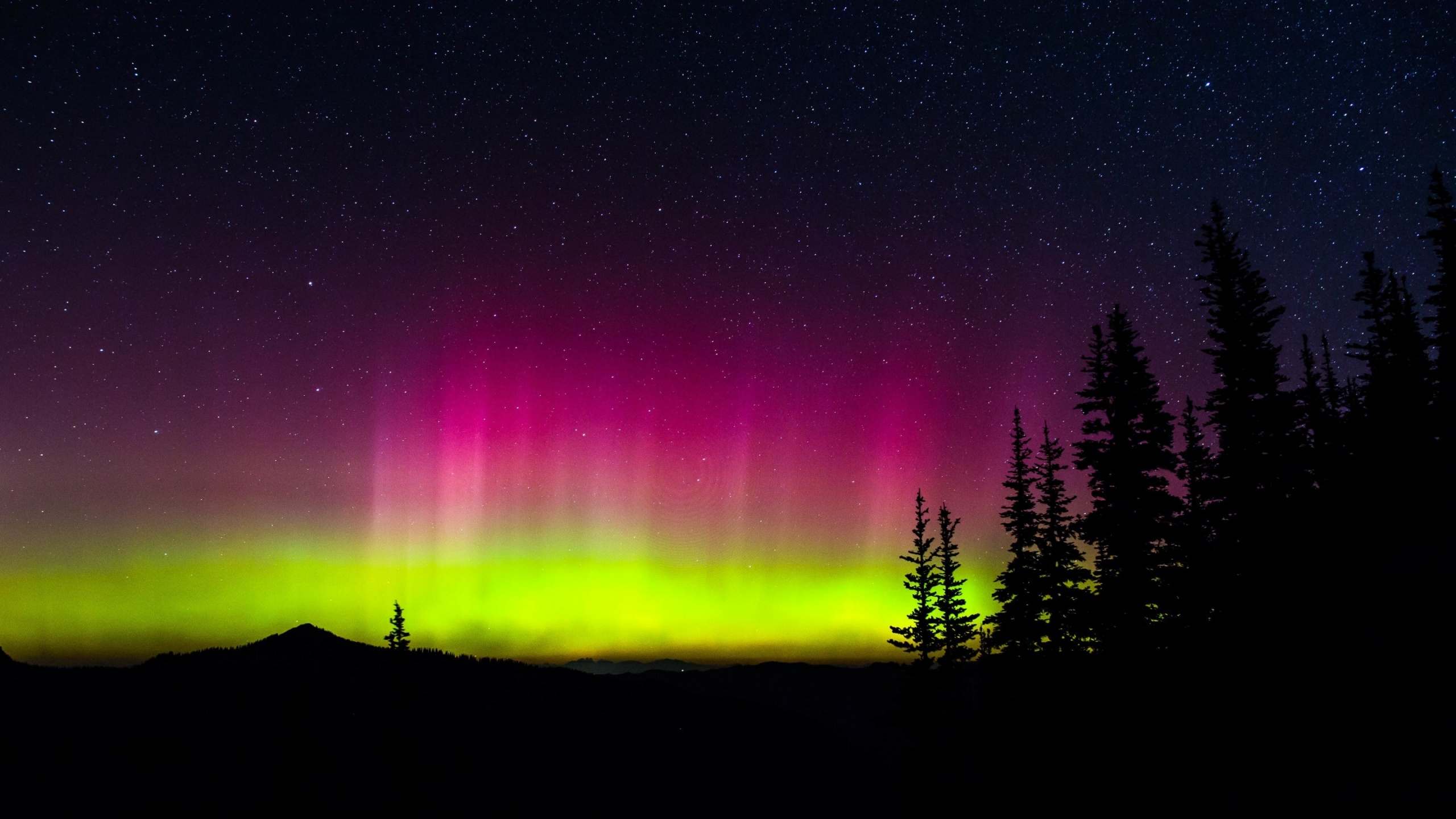Os X Wallpapers Hd Space Northern Lights Stars Night Wallpapers 2560x1440
