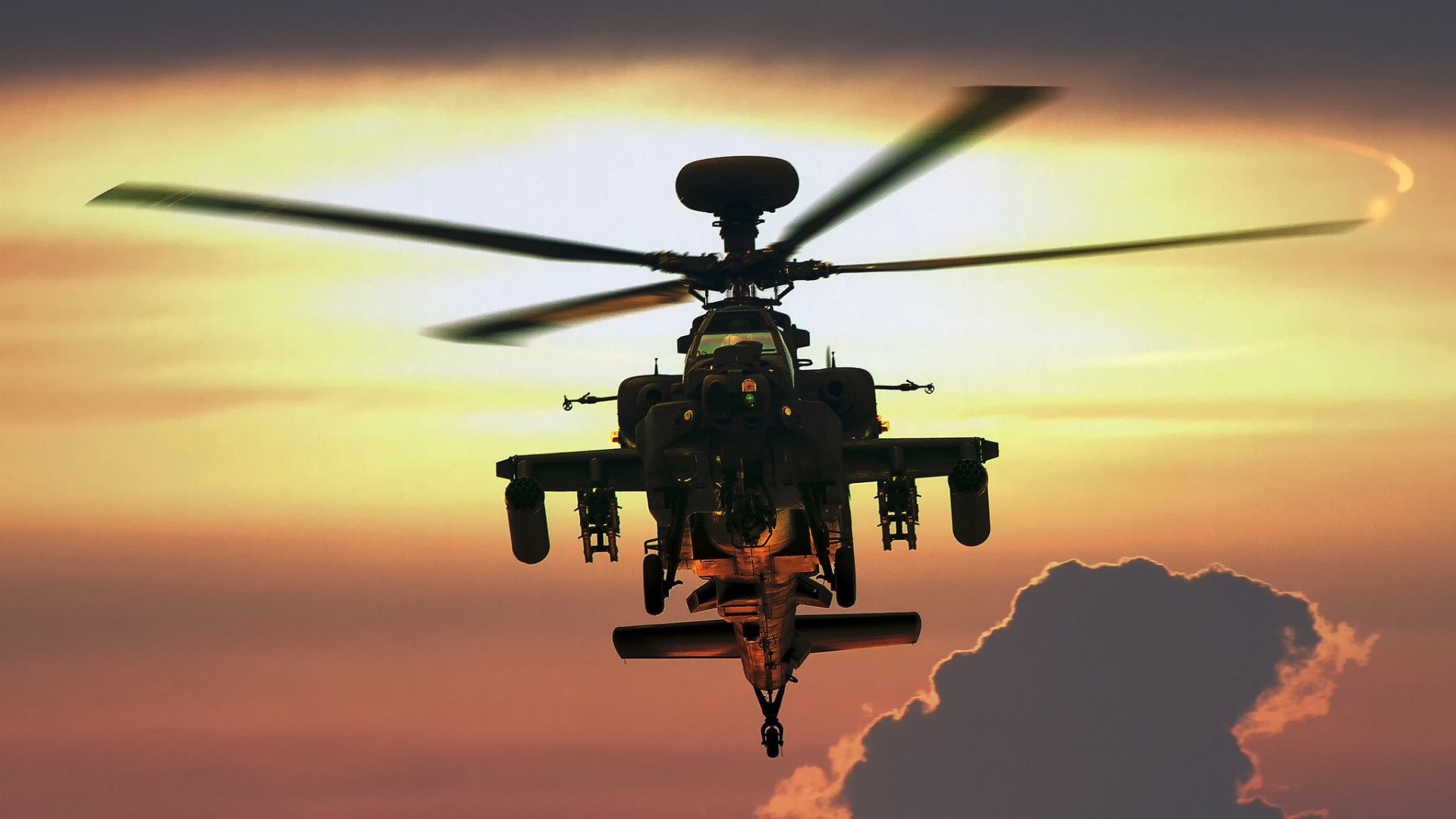 Black Hawk Helicopter Wallpapers Hd Sunset Ah 64 Apache Helicopter Wallpapers 1920x1080 273287