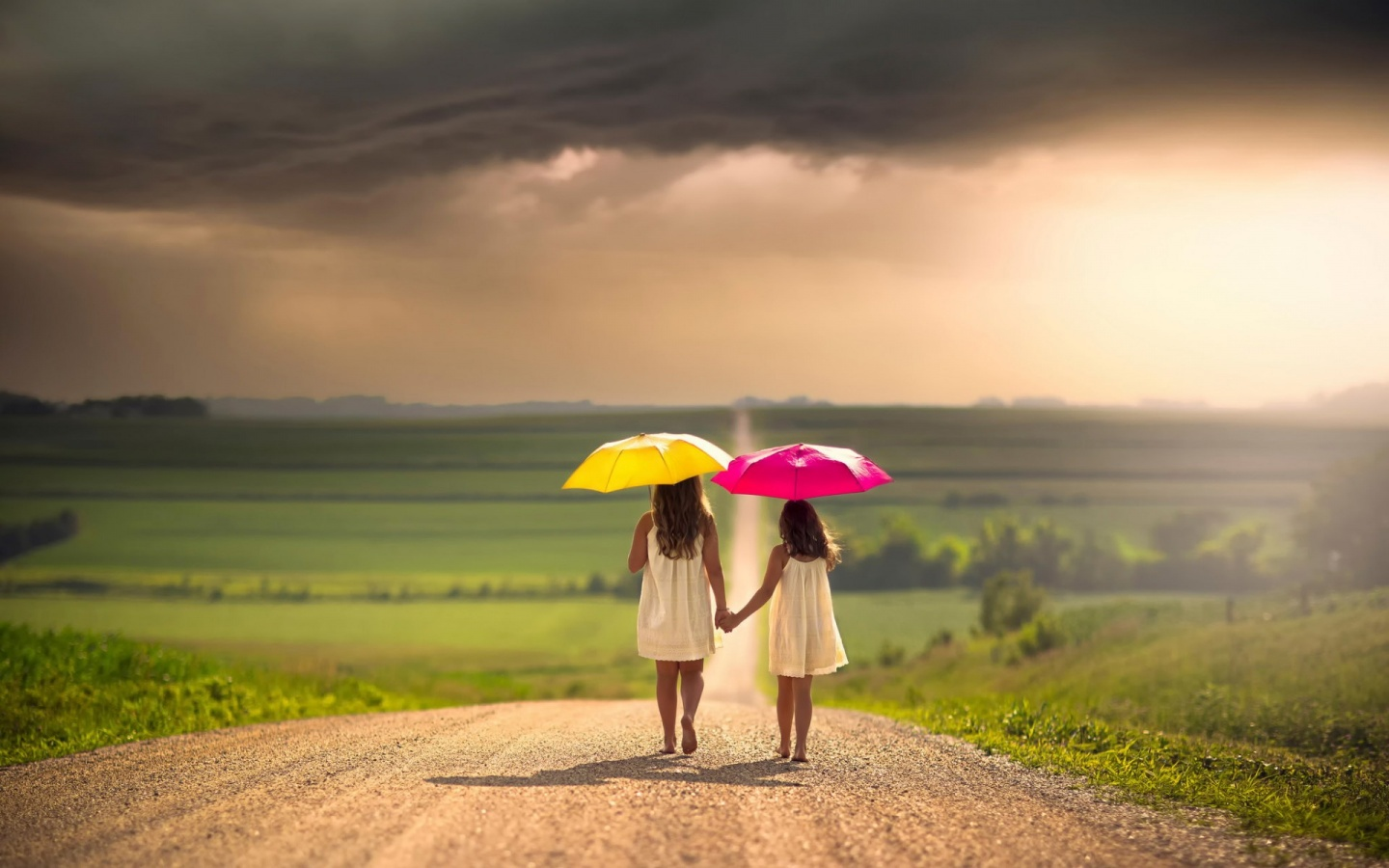 Telugu Quotes Wallpapers Two Girls With Umbrellas Wallpapers 1440x900 276184