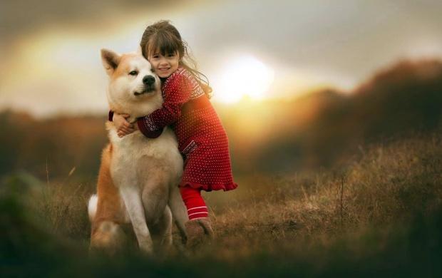 Little Girl Wallpaper 800x1280 Children With Animals Friends Wallpapers