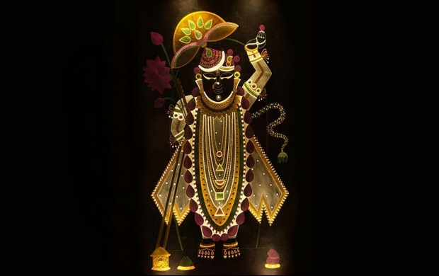 Sai Baba Animated Wallpaper For Mobile Lord Shrinathji Black Background Wallpapers