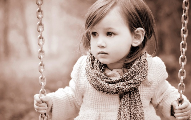 Cute Baby Girl Swing Hd Wallpaper Sad Girl Swing Wallpapers