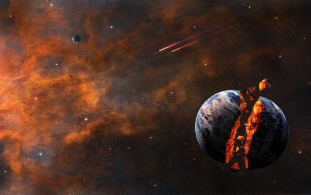 Smurfs 3d Wallpaper Sci Fi Planet Explosion Stars Wallpapers
