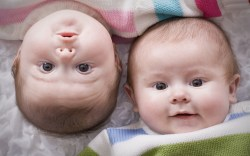 Cute Twins Baby large high resolution wallpaper photo