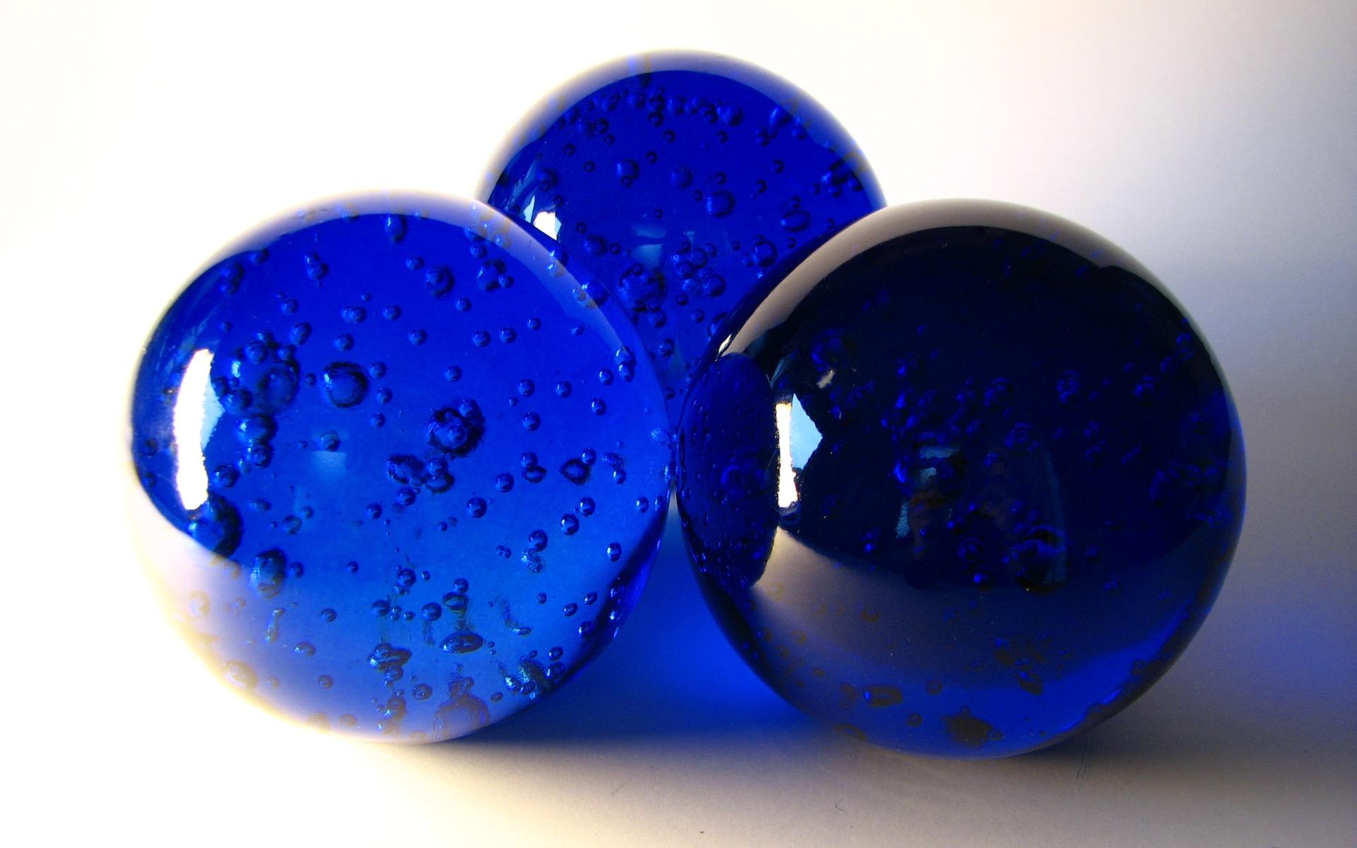 Glass Wallpaper Hd Blue Spheres Wallpapers 1920x1200 481745