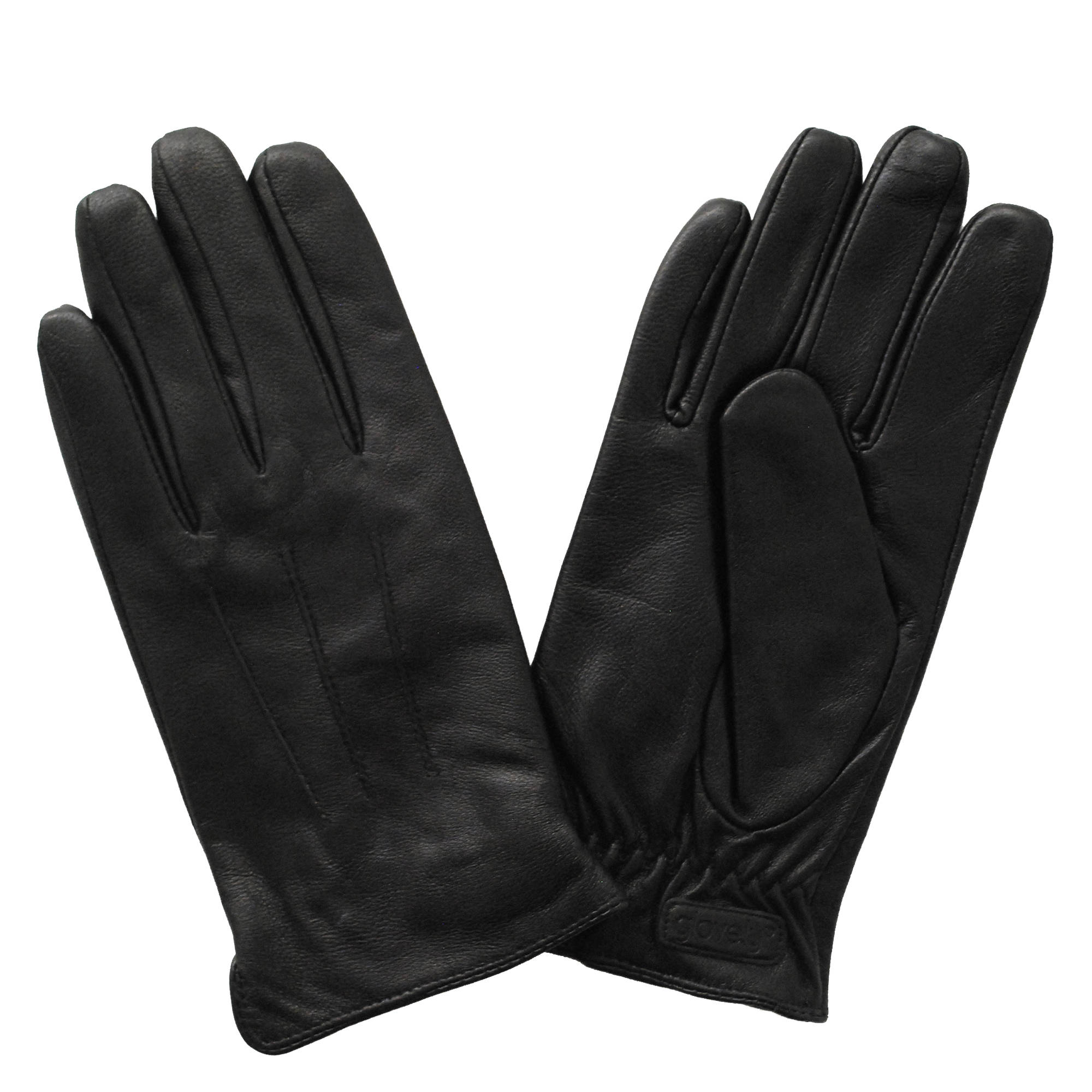 Glove ly men s leather touchscreen gloves black small