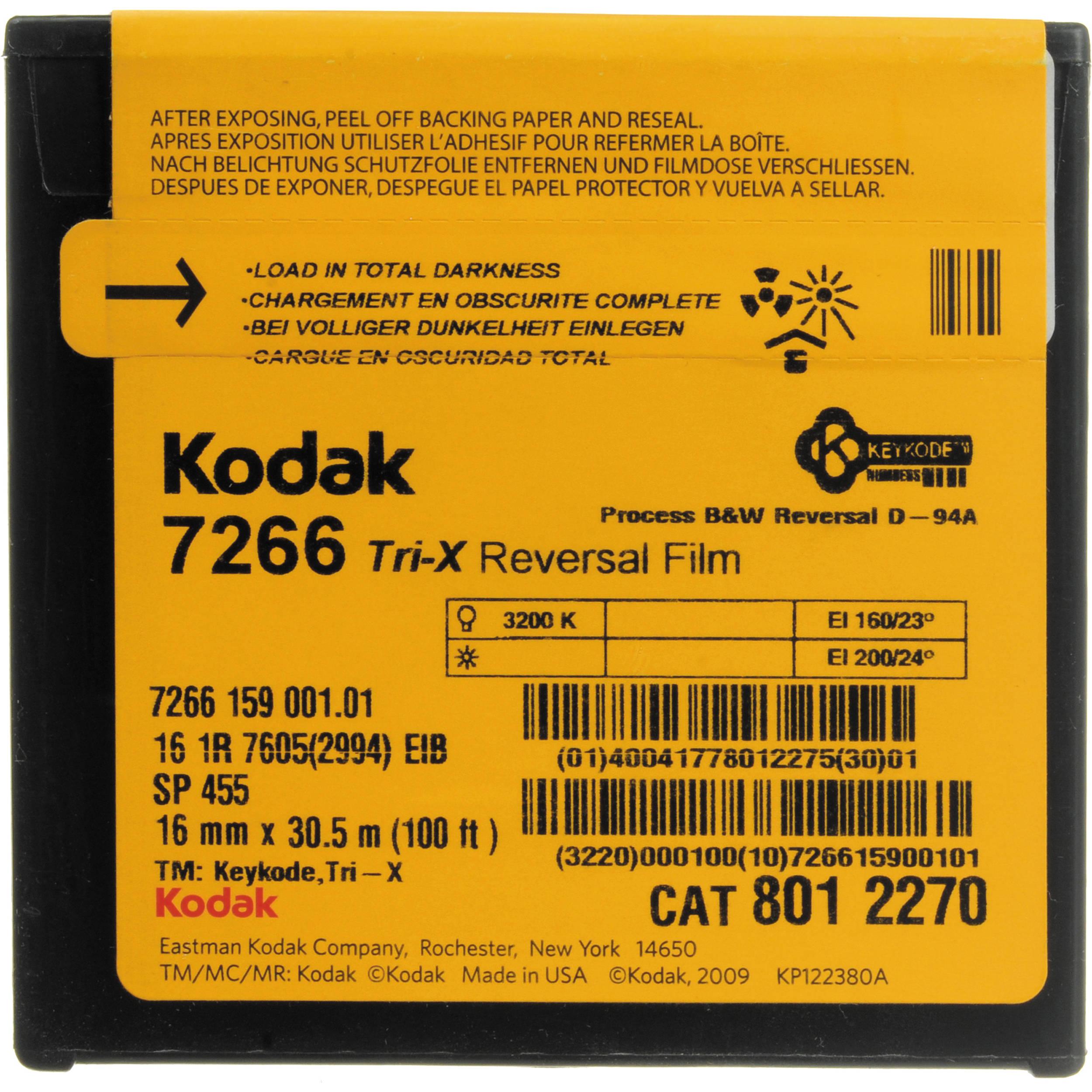Kodak 7266 txr455 16mm tri x 100