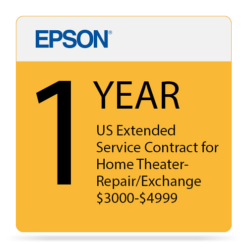 Epson 1-Year US Extended Service Contract for Home EPPSNPHTRH1